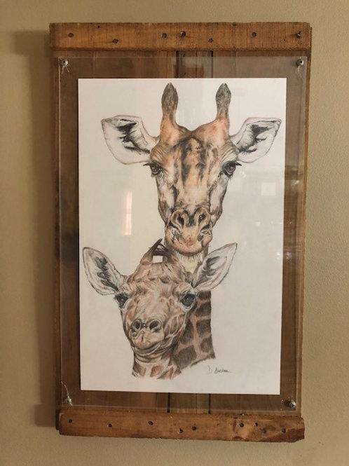 Original Giraffes Drawing
