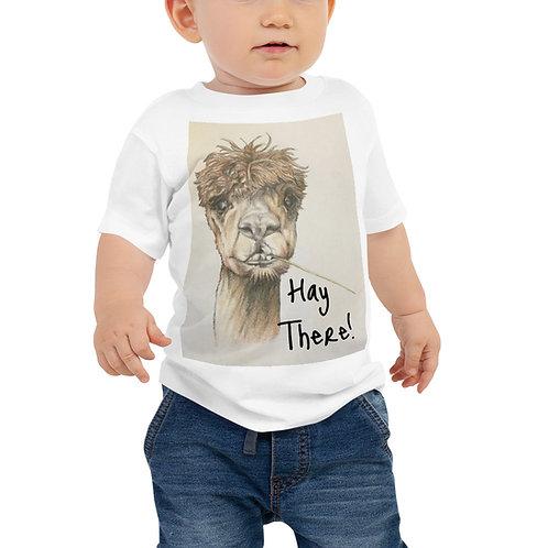 Hay There Llama Baby Jersey Short Sleeve Tee