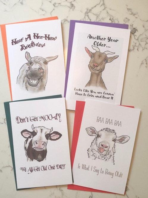 Barnyard Birthday Cards