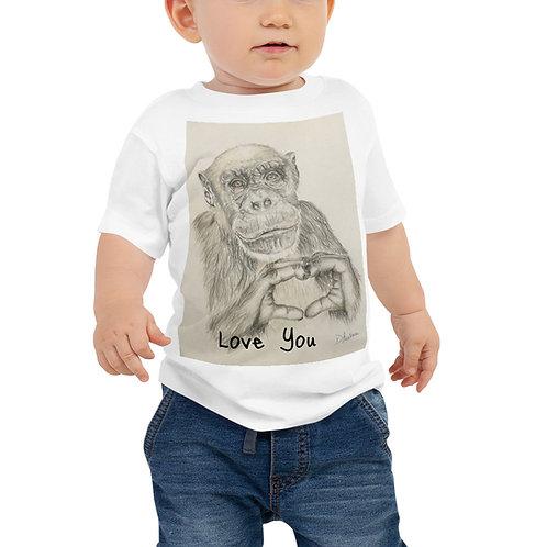 Chimp Love Baby Jersey Short Sleeve Tee