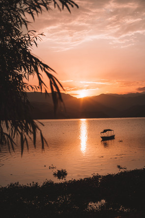 Sunset in Pokhara, Nepal