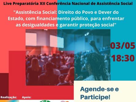 Live preparatória: XII Conferência Nacional de Assistência Social