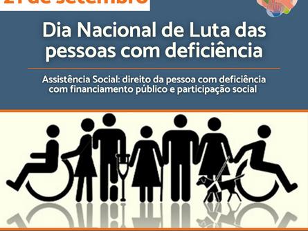 21 de setembro é Dia Nacional de Luta das pessoas com deficiência