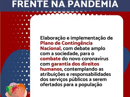 Conheça mais um post da Agenda Política da Frente na Pandemia