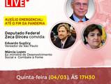 Participe da Live: Auxílio Emergencial até o fim da pandemia