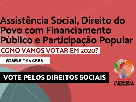 Eleições 2020 - Gisele Tavares