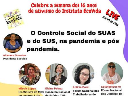 Live: O Controle Social do SUAS e do SUS, na pandemia e pós pandemia