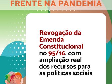Conheça a Agenda Política da Frente Nacional na Pandemia