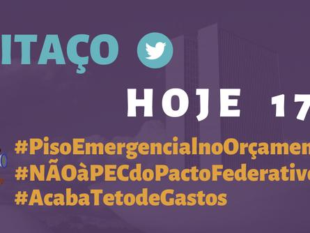 Participe do TUITAÇO HOJE 17HORAS