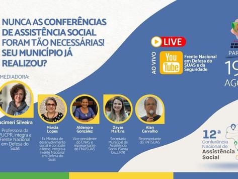 LIVE: Nunca as Conferências de Assistência Social foram tão necessárias! Seu município já realizou?