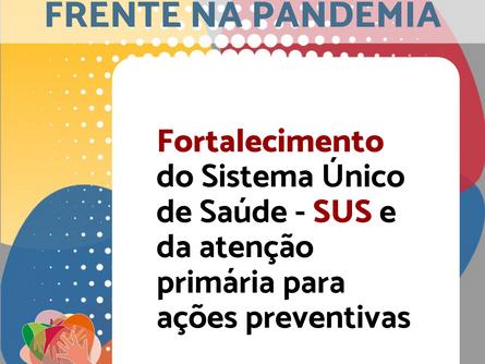 Conheça a Agenda Política da Frente na Pandemia