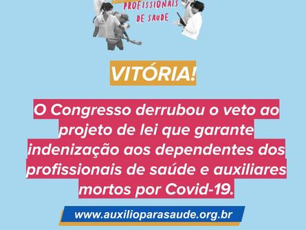 Derrubado o Veto de Bolsonaro quanto ao Auxílio para Saúde
