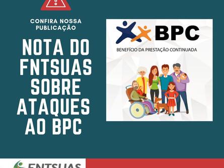 FNTSUAS publica Nota em relação aos ataques ao BPC