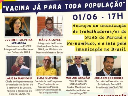 Diálogos do Congemas - VACINA JÁ PARA TODA A POPULAÇÃO