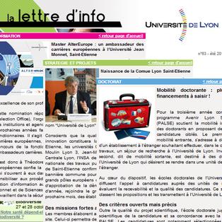 Newsletter de l'université de Lyon