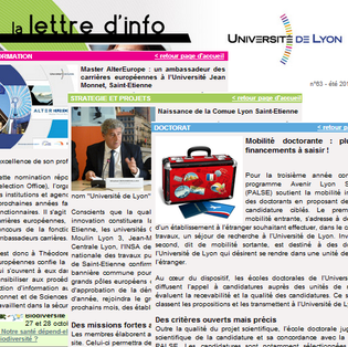Newsletter de l'université de Lyon
