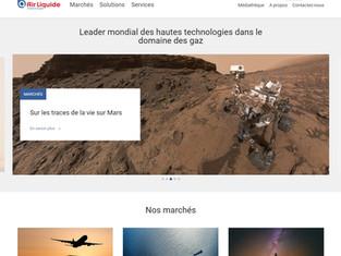 Site internet d'Air Liquide advanced Technologies
