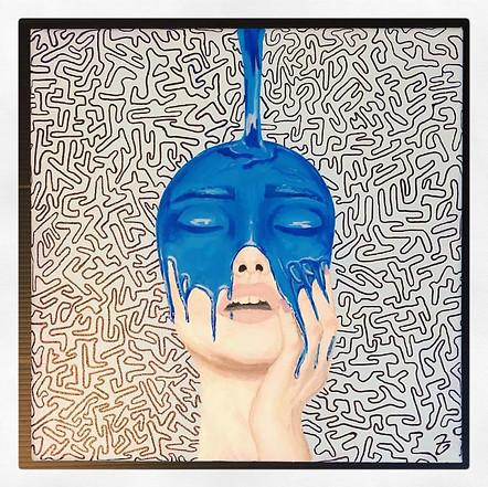 MINI BLUE DRIP FACE