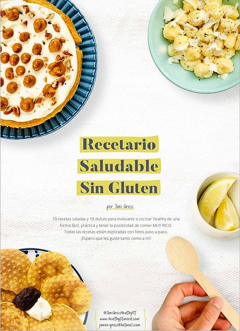 RECETARIO SALUDABLE SIN GLUTEN