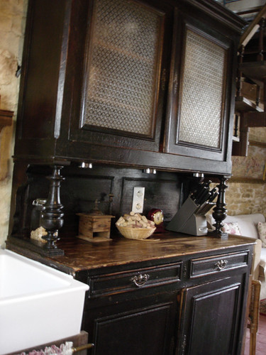 Antique cabinet for dishes & crockery