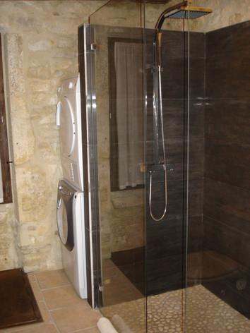 Large walk-in Italian shower