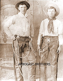 ASA ARBOGAST AND BROTHER WESTERN OUTFIT-