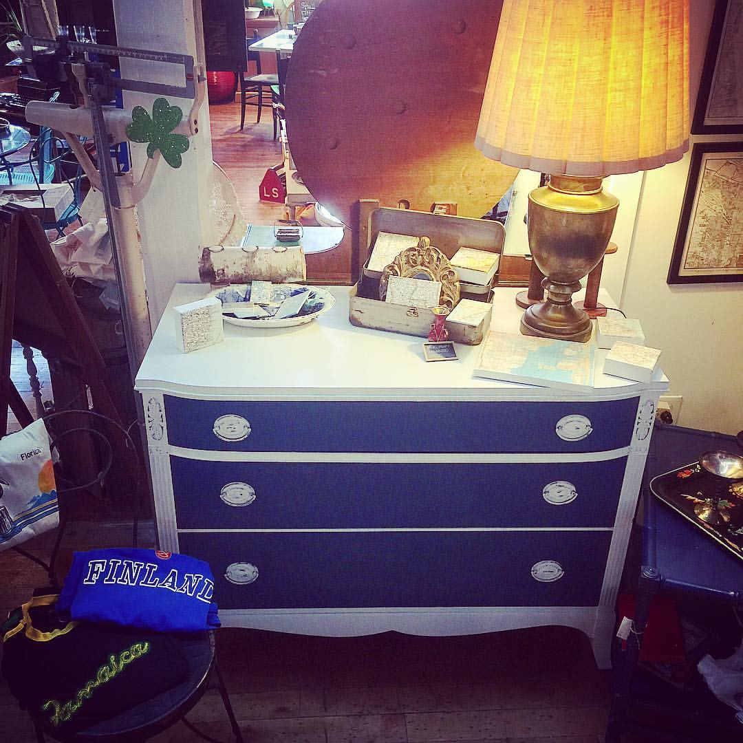 Blue and White Dresser