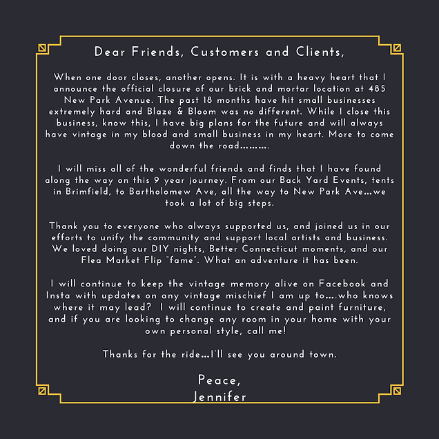 Dear Friends, Customers and Clients, Whe