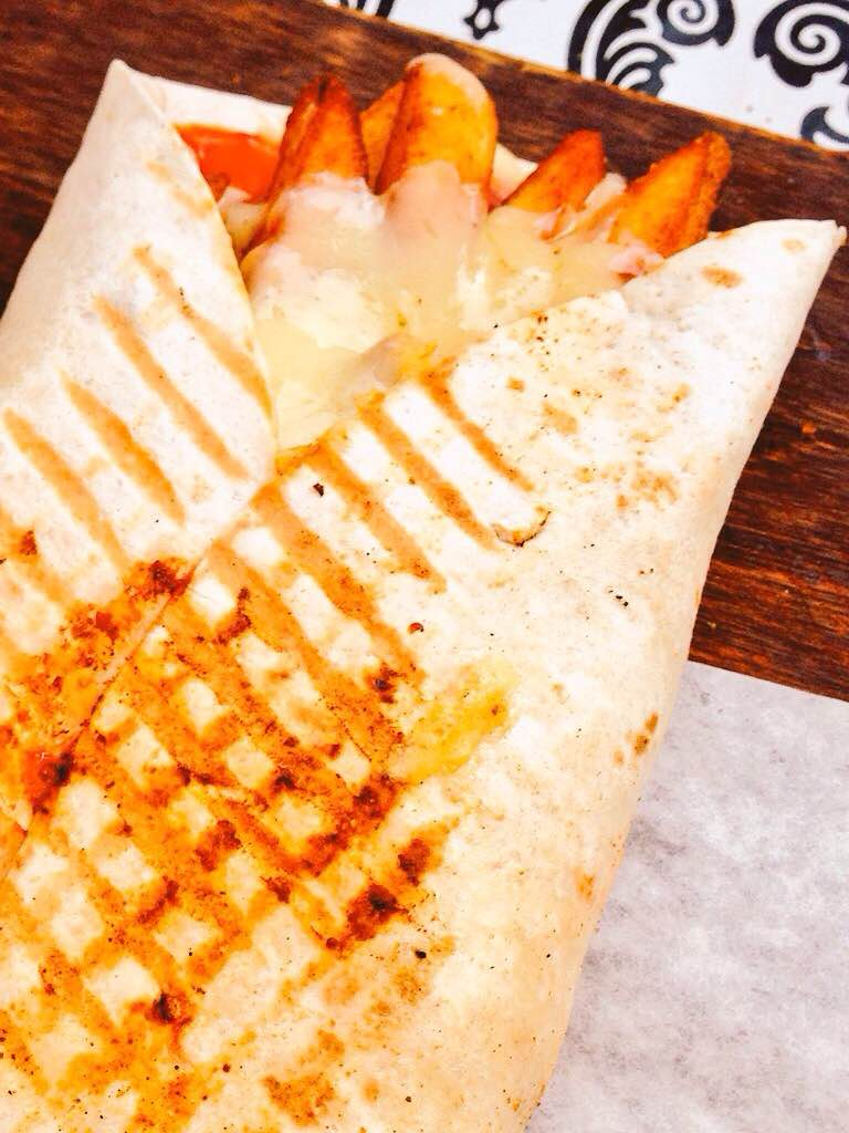Cheesy Masala Chips Wrap