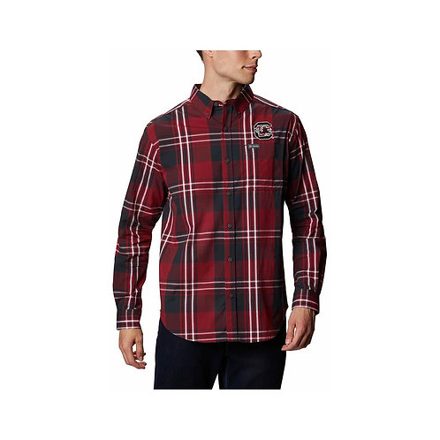 Columbia Plaid Long Sleeve USC Shirt