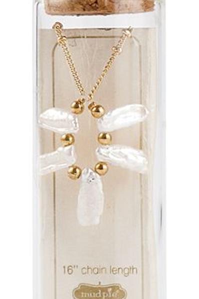 Big Bar Pearl Necklace