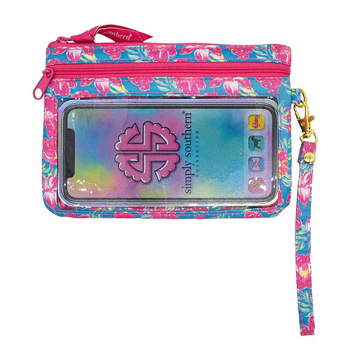Simply Southern Flower Phone Wristlet