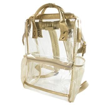Hinge Top Backpack- Gold
