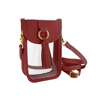 Red Cell Phone Crossbody Bag