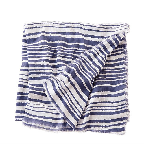 Blue Abstract Scarf - Stripes