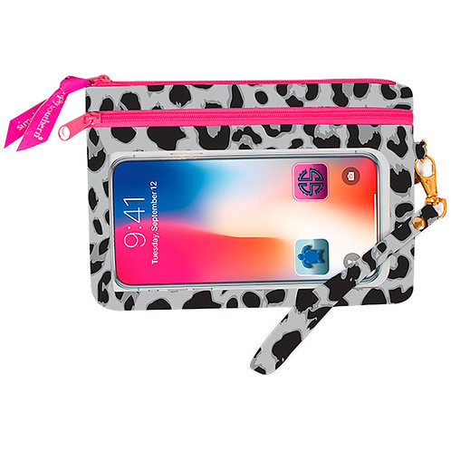 Simply Southern Grey Leopard Phone Wristlet