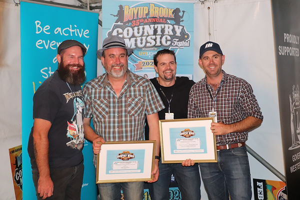 Mike Goodwin with pals, The Eastern Line at the.Boyup Brook Country Music Awards.