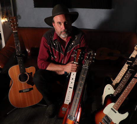 With some of my favourite guitars
