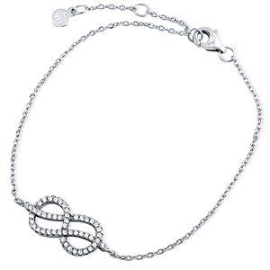 Silver Infinity Bracelet with CZ