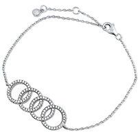 Silver Bracelet with CZ  Circles