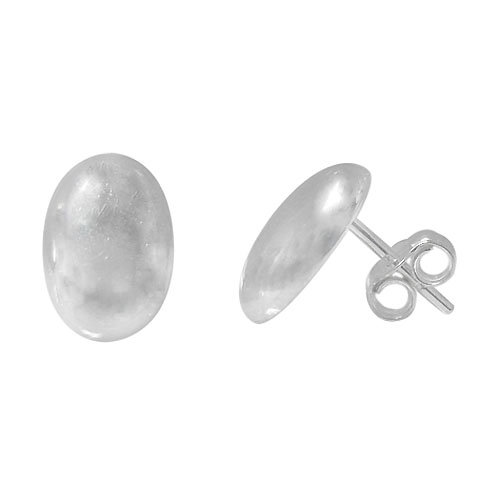 OVAL Dome Silver Studs