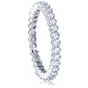 Silver Eternity Ring With CZ
