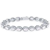Silver Bracelet with CZ