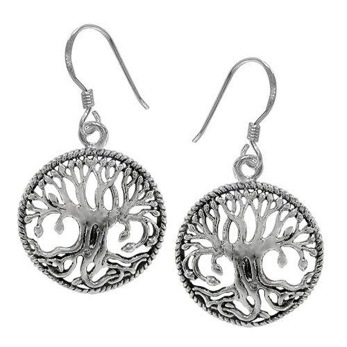 Tree of Life Earrings Plain
