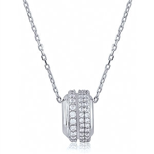 Silver Necklace with CZ NK007