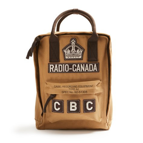 CBC Radio  BackPack, Vintage Sized SMALLER SIZED
