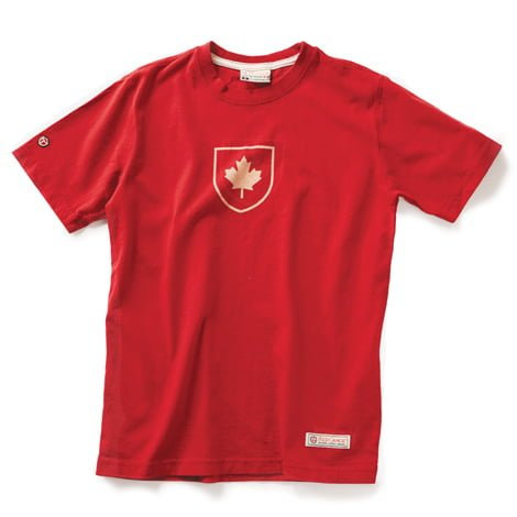 Canada Shield T-shirt, Heritage Red