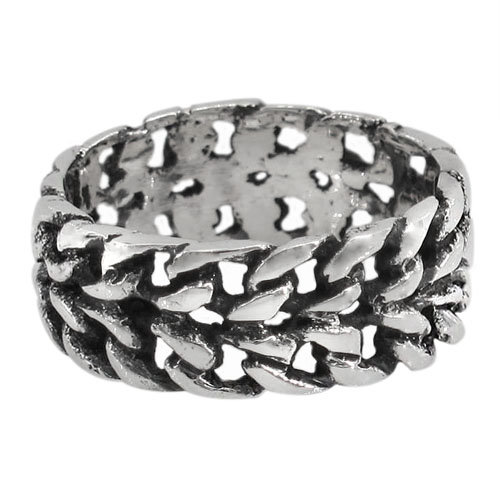Men's Thick Chain Style Ring