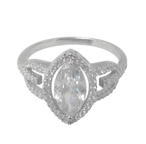 Sterling Silver, Marquise shape ring