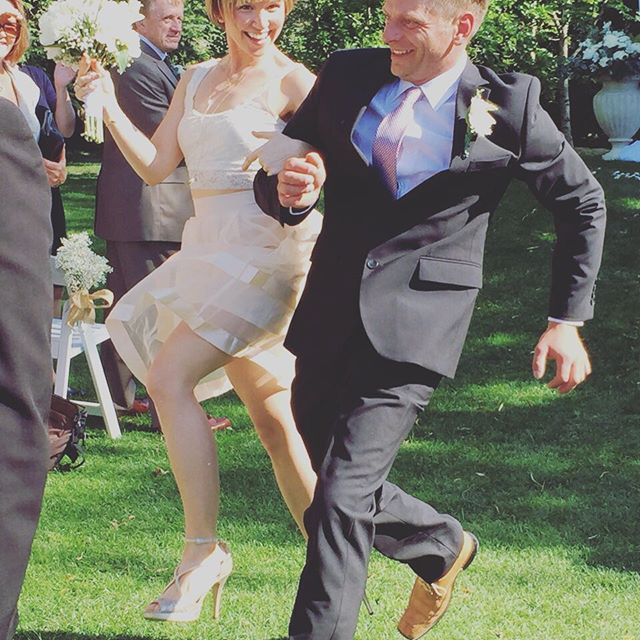 Ceremony over! Party time.jpg #weddingdj #abbotsford #weddingseason #sunnydays #skipping visit me at